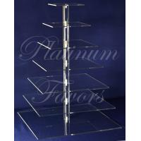 Buy cheap 7 Tier Square Wedding Acrylic Cupcake Maypole Stand Cupcake Display from wholesalers