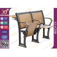 Buy cheap Attractive Design Finished Black Epoxy Powder Lecture Hall Seats With Writing Board from wholesalers