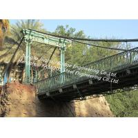 Buy cheap Tall Steel Modular Rope Suspension Bridge Crossing River Valley Temporary or Permanent from wholesalers