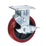 Buy cheap Polyurethane caster wheels brake from wholesalers