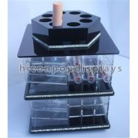 Buy cheap Tabletop Lipstick Acrylic Display Case Cosmetics Store Rotating Acrylic Display Stand from wholesalers
