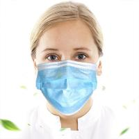 Buy cheap Blue Disposable Earloop Face Mask Anti Virus Protection For Food Service product