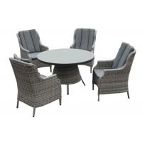 Buy cheap Lightweight 4 Seater Aluminum Rattan Outdoor Patio Dining Sets from wholesalers