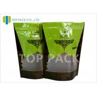 China 35 Oz OEM Laminated Mylar Stand Up Pouch Bags Zip Lock Customized Window on sale