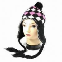 Buy cheap 75G Acrylic Knitted Women Hat, Available in Many Designs from wholesalers