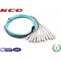 Buy cheap OM3 Fiber Optic Conector Pigtail Patch Cord Fanout 50/125 3m SC Type from wholesalers