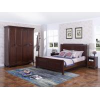 Buy cheap Rubber Wood Furniture Thailand solid wood King/Queen Bed in Leisure American style with Nightstand and Wardrobe from wholesalers