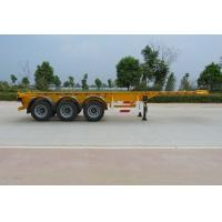 Buy cheap 40 Feet Container Carrying Flat Bed Semi Trailer With 28ton JOST Landing Leg from wholesalers