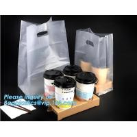 Buy cheap Disposable cup carrier bag, carry bag, cup handle bag, handy bag, die cut bag, handle carry bag, grocery bag, bakery pac from wholesalers