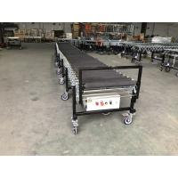 Buy cheap Flexible Rubber Coated Powered Roller Conveyor for transport bags from wholesalers