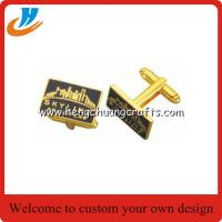 Buy cheap Gold cufflinks,men's T-shirt metal cufflinks high wholesale for important occasion from wholesalers