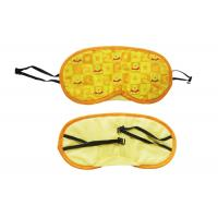 Buy cheap Cute Pattern Sleeping Blindfold Eye Shade With Durable Yellow Polyester Material from wholesalers