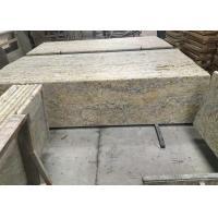 Golden Solid Granite Countertops, Kitchen / Bathroom Granite Countertop Slabs
