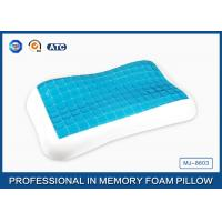 Buy cheap Contour memory foam cooling gel pillow in Summer for relieving neck fatigue from Wholesalers
