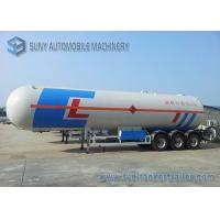 Buy cheap 58500 liters tri-axle LPG tank trailer 24.5MT , LPG gas tanker semi trailer from wholesalers