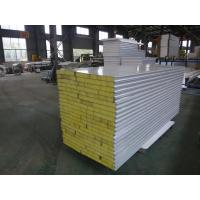 Buy cheap Lightweight Insulated Sandwich Panels , Steel Rock Wool Sandwich Panel Roofing Sheets from wholesalers