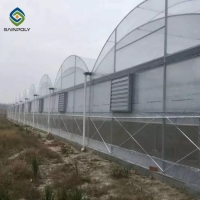 Buy cheap Clear Sawtooth Roof Multi Span Greenhouse Plastic Sheeting ISO9001 2008 from wholesalers