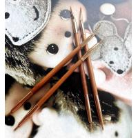 Double Head Lip Liner Brushes , Cosmetic Eyeliner Brush Bamboo Handle