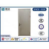 Waterproof Single Wood Fire Door With Steel Frame High Compressive Strength