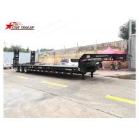 Buy cheap 3 Line 6 Axles Hydraulic Low Bed Trailer With Heavy Duty Bogie Suspension from wholesalers
