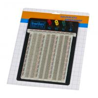 Buy cheap DIY 2390 Points Transparent Breadboard With Blue / Red Contacts from wholesalers