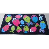 Buy cheap 100% cotton printed beach towel , velour , 100x180cm , gsm450 from wholesalers