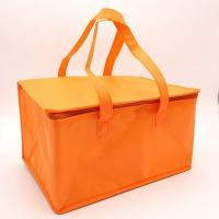 Buy cheap White Promotional Non Woven Material aluminum cooler bag thermal bag with Zipper from wholesalers