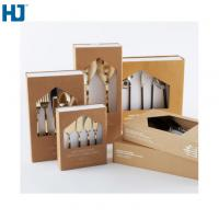 Buy cheap Brown Tableware Cardboard Packing Boxes Customized Folding With Big Window Hanger from wholesalers