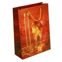 Buy cheap Christmas Personalized Art paper, Kraft paper Gift Carrier goodie bag custom printed from wholesalers