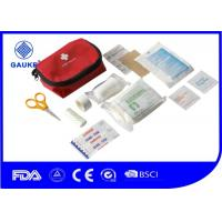 Buy cheap Outdoor Camping First Aid Kit , Private Label Pocket First Aid Kit Bag CE FDA Approved from wholesalers
