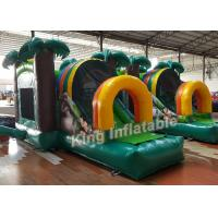 Buy cheap Green Printed PVC Small Inflatable Bouncer Castle Kids Playground Flame Resistant from wholesalers