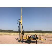 Buy cheap Trailer Mounted Mobile Water Well Drilling Rig , Hydraulic Borehole Drilling Machine from wholesalers