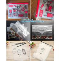 Buy cheap vinyl plastic zipper bags packaging with slider closure, size frosted matte pvc vinyl zipper ziplock plastic packaging b from wholesalers