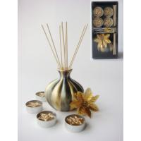 Buy cheap Christmas gold and black luxury reed diffuser gift set from wholesalers
