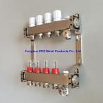 Buy cheap ZZ18155 PEX Radiant Floor Heating Stainless Steel Manifold Set , Underfloor Heating Manifolds Stainless Steel Manifold from wholesalers