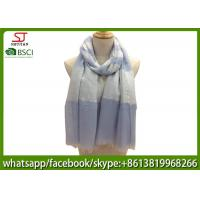 Buy cheap China factory supply joint stripe yarn dyed fabric spring summer scarf 80*190cm100% Polyester keep fashion chiffon from wholesalers