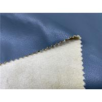 Buy cheap Blue Color Waterborne Pu Faux Leather Fabric DMF Free Coated Pattern 0.75mm Thickness from wholesalers