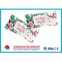 Buy cheap Personal Hygiene Wet Tissue Paper For Face , Unscented Feminine Wipes from wholesalers