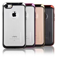 Buy cheap Anti - Scratch Hard Pc Soft TPU Phone Protective Cover Electroplate Metal Texture from wholesalers