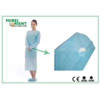 Buy cheap Plastic Disposable Protective Gowns / Blue CPE Surgical Gown for Patient , CE Standard from wholesalers