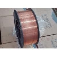 Buy cheap 0.8mm Copper Plated CO2 MIG Welding Wire With Metal K 300 Spool / Plastic D300 from wholesalers