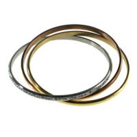 Buy cheap Fashion Thin Carved Stainless Steel Bangles Cuff For Gift from wholesalers