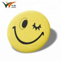 Buy cheap Factory custom round smiling face tin button badges from wholesalers