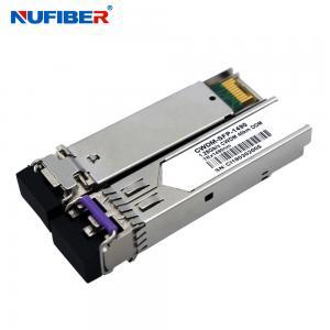 Buy cheap 1.25Gb/s 20km CWDM SFP Transceiver Duplex LC 1270nm ~ 1610nm SM DDM product