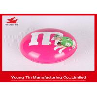 China Bean Shaped Candy Packaging Promotional Tins , Custom Printing Metal Tin Containers on sale