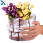 Buy cheap Acrylic Rose Flower Box Waterproof Makeup Organizer Holder Round Gift Box from wholesalers
