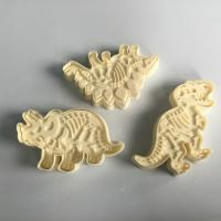 Buy cheap 3 Pieces Set Skeleton Dinosaur Cookie Cutters , Stampers Cake Decoration Molds from wholesalers