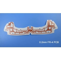 Buy cheap Thin Printed Circuit Board PCB 0.2mm FR-4 PCB Board with White Solder mask for Display Backlight from wholesalers