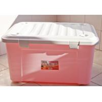 Buy cheap GJ5221 Plastic storage box, Turn -cover Structure, Pink, Red, Green Plastic Storage Crate from wholesalers