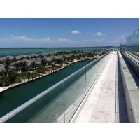 Buy cheap Exterior Aluminum U base channel tempered glass railing from wholesalers